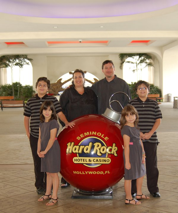 Hall family at the Hard Rock, Ft. Lauderdale, FL